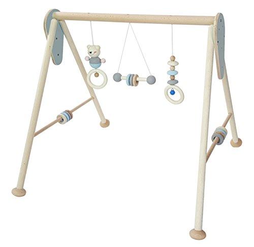 Hess Holzspielzeug 13381 - Spielgerät aus Holz, Serie Bär, für Babys, handgefertigter Spielbogen mit Figuren und Rasseln,...