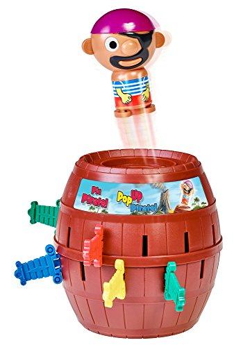 TOMY T7028A1 Kinderspiel 'Pop Up Pirate', Hochwertiges Aktionsspiel für die Familie, Piratenspiel zur Verfeinerung der...