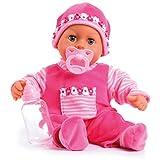Bayer Design 93800-pink 93825AA Babypuppe First Words, Schlafaugen, spricht 24 Babylaute, weicher Körper, mit Schnuller und...
