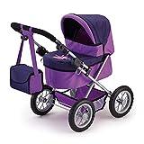 Bayer Design 13012AA Puppenwagen Trendy, höhenverstellbar, zusammenklappbar, mit Tasche, Motiv: Fee, lila