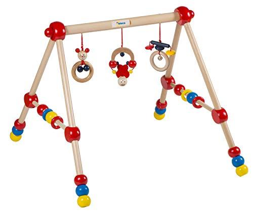 Bieco Spieltrapez   Spielbogen für Babys -Figuren, Rasseln, Kugeln- Höhenverstellbar   Spielebogen Holz Baby   Spieltrapez Holz...