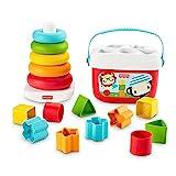 Fisher-Price GRF11 - Fisher-Price Stapel & Sortier Spielset, Geschenkset, Kinderspielzeug aus pflanzlichen Rohstoffen, ab 6...