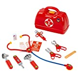 Theo Klein 4457 Arztkoffer I Mit Stethoskop, Thermometer, Spritze und vielem mehr I Robuster Koffer mit praktischem Tragegriff I...