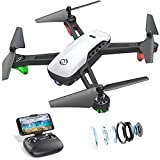 SANROCK U52 Drohne mit Kamera 1080P HD Kamera WiFi Live Video FPV Drohne für Kinder RC Quadcopter, Schwerkraft Sensor, Headless...