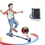Swing Wheel mit Lichtrad, Kinder Blinkender Springring Fußkreisel, Faltbare Glühender Springender Ball, lustiges Spielzeug für...
