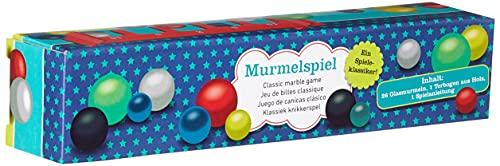 Moses 38064 Klassisches Murmelspiel   Spieleklassiker mit 26 Glasmurmeln und einem Holzbogen, bunt