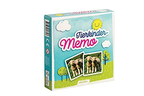 Tierkinder-Memo. 40 Spielkarten Im Spielkarton: Memo-Spiel mit 40 Spielkarten im Spielkarton