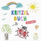 Kritzelbuch ab 1 Jahr: Erstes dickes Ausmalbuch mit 50 tollen Motiven zum Kritzeln, Ausmalen und Lernen der ersten Gegenstände...