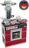 Theo Klein 9044 Miele Küche Kompakt I Kinder-Spielküche mit Ofen, Abzugshaube, Spülbecken und viel Zubehör I Beidseitig...