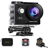 Apexcam 4K Action cam 20MP WiFi Sports Kamera Ultra HD Unterwasserkamera 40m 170 ° Weitwinkel 2.4G Fernbedienung Zeitraffer...