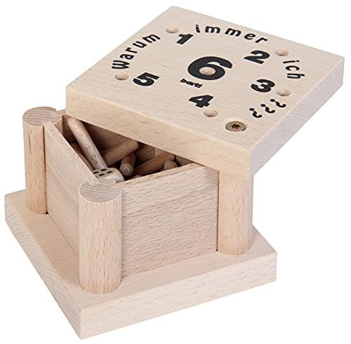 Bartl 102809 Spannendes Würfelspiel aus Holz Warum Immer ich?, für die ganze Familie von Klein bis Groß