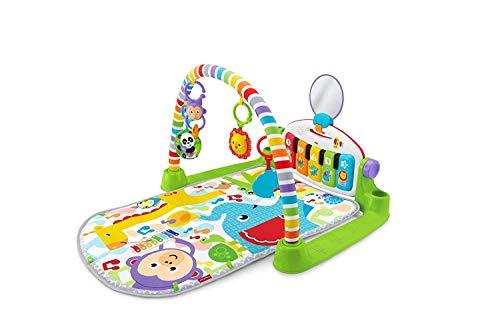 Fisher-Price FTW18 - Piano Gym Englische Version, Spieldecke für Neugeborene und Kleinkinder mit Spielzeug
