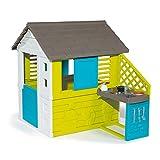 Smoby 810711 – Pretty Haus - Spielhaus für Kinder für drinnen und draußen, mit Küche und Küchenspielzeug (17 teilig),...