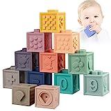 Sunarrive Weich Baby Bausteine - Motorikspielzeug Stapelwürfel Bauklötze - Babyspielzeug Stapelspiel - Montessori Sensorik...