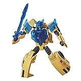 Transformers E8373 Bumblebee Cyberverse Adventures Battle Call Trooper-Klasse Bumblebee Action-Figur, Energon Power Lichter