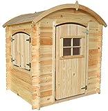 TIMBELA M505-1 Gartenhaus Kinder mit Holzboden - Spielhaus Garten Holz - Gartenhaus Holz Klein, H145 x 105 x 130 cm, 1.1 m²
