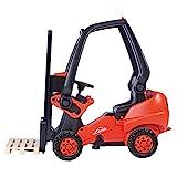 BIG - Linde Forklift - Kindergabelstapler, Spielfahrzeug mit Präzisionskettenantrieb, verstellbarer Sitz, bis 50 kg, Linde...