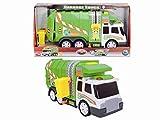 Dickie Toys 203308357 - Action Series Garbage Truck, Müllwagen inklusive Batterien, 39 cm