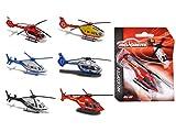Majorette 212057520 Helikopter Bell 429, Die-Cast-Hubschrauber, Notarzt, Feuerwehr, Polizei, Luftrettung, 6 versch. Modelle,...