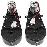 Yaootely 2 Stücke 550 Universal Kinder Elektro Auto Getriebe mit Motor, 12 Vdc Motor mit Getriebe, Kinder Fahrt Auf Auto Baby...