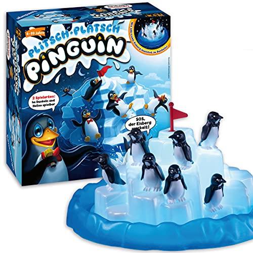 Ravensburger Kinderspiel 21325 - Plitsch Platsch Pinguin - großer Spielspaß mit Geschicklichkeitsfaktor für Kinder und...