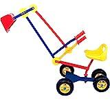 Spielwerk Deuba Kinderbagger Sitzbagger 360 Grad drehbar Kippschaufel Sitz Reifen Sandkastenbagger Sandbagger Bagger Metall