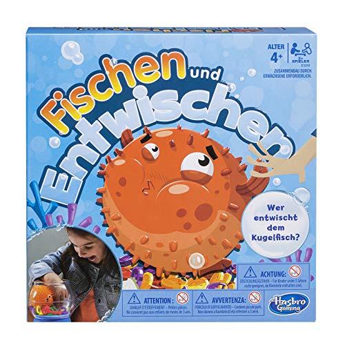 Hasbro Spiele E3255100 Fischen und Entwischen, lustiges Kinderspiel, Mehrfarbig