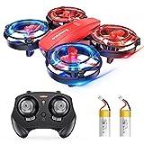 Mini Drohne für Kinder, RC Quadrocopter ferngesteuert mit LED Licht, Kampfdrohne, 360° Propellerschutz, 3D Flip, Kopflos Mode, 3...