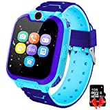 PTHTECHUS Kinder Spiel Smartwatch Telefon - Kinderuhr mit Rechner 7 Arten von Spiel Digitalkamera Wecker, Smart Watch mit...