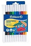 Pelikan 973172 Fasermaler Colorella Duo, 1 Set, 10-farbig