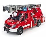 Bruder 02532 - Mercedes Benz Sprinter Feuerwehr mit Drehleiter, Wasserpumpe und Light and Sound Modul