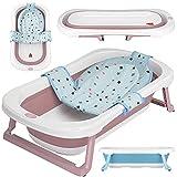 faltbare Babywanne mit 50 Litern Volumen von BEARTOP | inkl. Badewanneneinsatz Baby | ergonomisch & kompakt | stabiles PP & TPE...