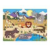 Melissa&Doug Peg-Puzzlespiel aus Holz – Safari | Puzzles | Holzspielzeug | 3+ | Geschenk für Jungen oder Mädchen
