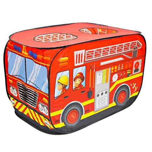 deAO Faltbares Spielzelt für Kinder im Feuerwehrauto-Design.Großartiges Geschenk für den Innen- und Außenbereich. Ideal für...