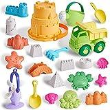 T.G.Y Sandspielzeug Set Für Kinder, 23 Stück umweltfreundliches Strand Sandspielzeug mit LKW, Eimer, Gießkanne, Schaufeln,...