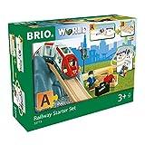 BRIO World 33773 Eisenbahn Starter Set A – Die ideale erste Holzeisenbahn mit Tunnel und Figuren – Kleinkinderspielzeug...