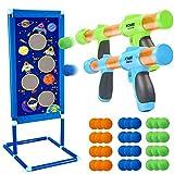 Ziel Schießen Spielzeugpistolen für Kinder mit 2 Pcs Popper Gun Duel Battle Pistole und 36 Schaumbälle Spielzeug für Jungen...