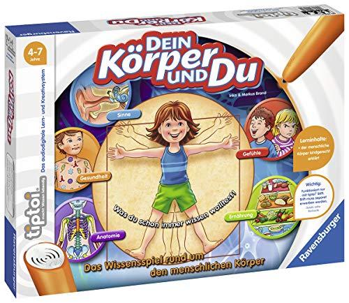 Ravensburger tiptoi Spiel 00560 Dein Körper und Du - Lernspiel von Ravensburger ab 4 Jahren für 1-4 Spieler, das Wissensspiel...