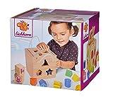Eichhorn 100002092 Steckwürfel aus Holz, Kiefernholz, Motorikwürfel mit 12 Steckbausteinen, Holzspielzeug für Kinder ab 12...
