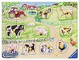 Ravensburger Kinderpuzzle - 03689 Morgens auf dem Bauernhof - my first wooden puzzle mit 10 Teilen - Puzzle für Kinder ab 2...