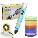 Dikale 3D-Stift für Kinder, 3D-Druckstifte mit 1,75 mm PLA-Filamenten Insgesamt 12 Farben 120 Fuß, 3d Printer Pen Set
