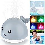 Baby Badespielzeug Wasserspielzeug, Whale Spray Induction Schwimmende Baden Spielzeug mit Licht und Musik, Pool Wal...