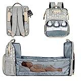 Lifelf Baby Wickelrucksack als Kinderbett mit großer Kapazität Wickelunterlage Kinderwagengurte, wasserdichte Windeltaschen...