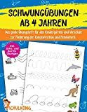 Schwungübungen Ab 4 Jahren: Das große Übungsheft für den Kindergarten und Vorschule zur Förderung der Konzentration und...
