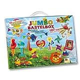 Folia Jumbo Bastelbox, 107-teilig - Bastelkoffer Bastelset Kreativset Bastelmaterial