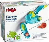 HABA 304871 - Kugelbahn Badespaß – Wasserrallye, Badespielzeug mit Kugelbahn und 4 Tiermotiv-Kugeln, Spielzeug ab 3 Jahren