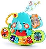 LUKAT Baby Musik Spielzeug für 6 9 12 18 Monate Kleinkinder, Elefant Musikspielzeug mit Licht & Ton Musikinstrumente Klavier...