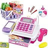 Sotodik 34 Stück Kasse Kinder Rollenspiel Supermarkt Spielzeug Kaufladen Kaufmannsladen Zubehör Registrierkasse Supermarktkasse...