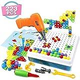 Mosaik Steckspiel 3D Puzzle Kinder Bausteine mit Drillen Pädagogisches Spielzeug STEM Geschenk für Kinder Junge Mädchen 3 4 5...