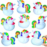 German-Trendseller ® - 12 x Magische Einhorn Enten - Lollypop ┃ ★ NEU ★ ┃ Party Quietscheenten ┃ Mitgebsel ┃...